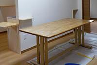 手作りダイニングテーブル