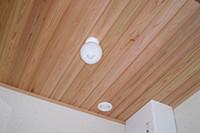 木目がきれいな無垢天井板